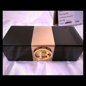 NWT! C Wonder Lacquer Monogram Glamour JewelryBox